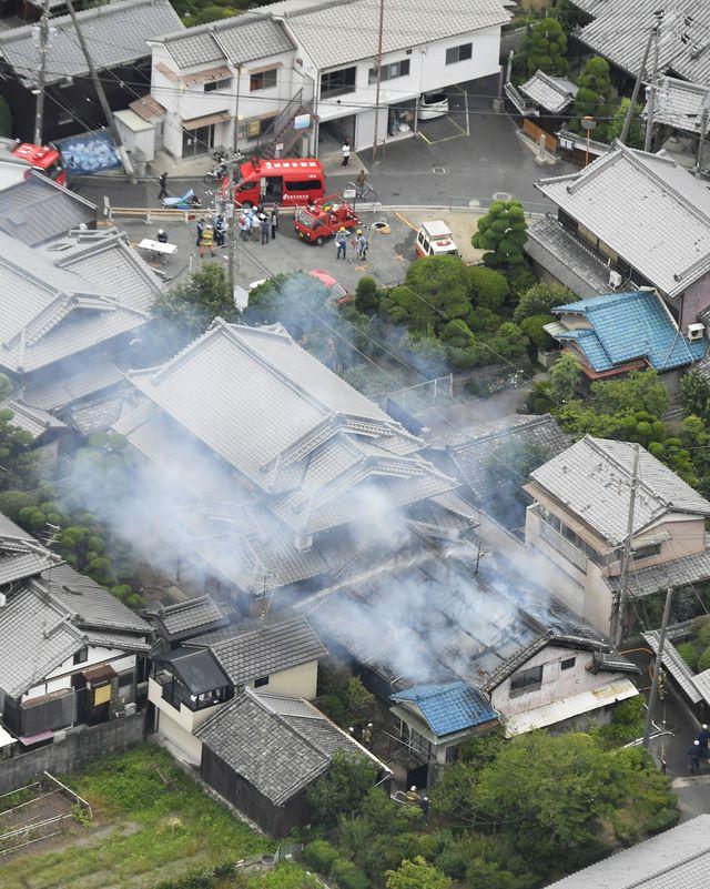 大阪北部を震源にした地震の被害状況